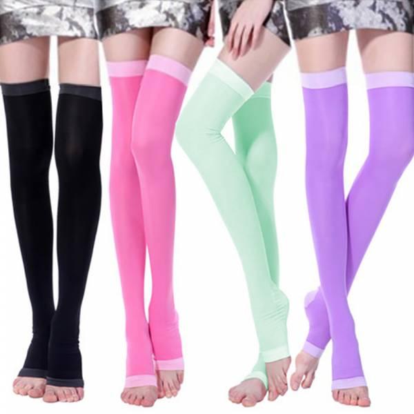 機能瑜珈型紓壓睡眠塑腿襪(纖腿襪/顏色隨機/雙)