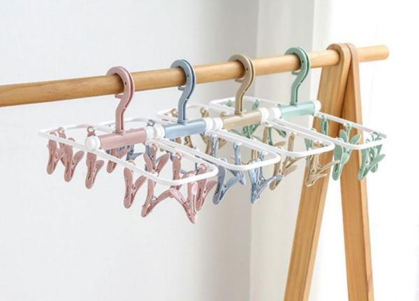 12夾布衛生棉專用防風折疊曬衣架