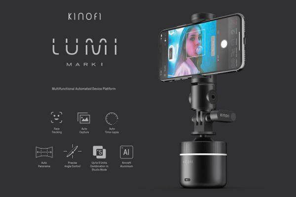 Lumi mark|手機、相機專用的全景360度智慧雲台 kinofi,lumi makr1,雲台,智慧雲台,三軸,minfort
