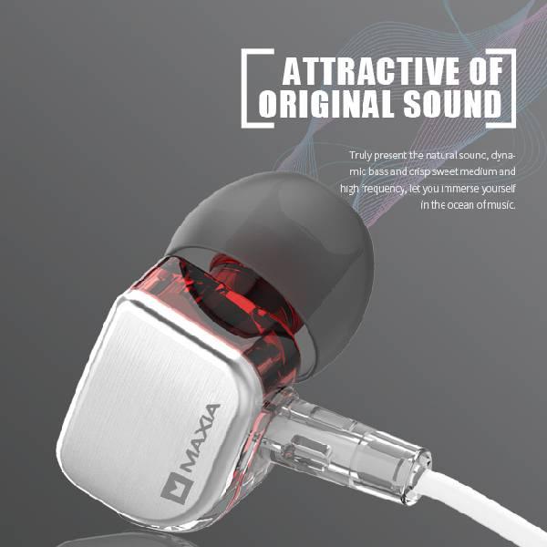 振膜動圈MAXIA MH-55耳道式耳機 入耳式耳機,Maxia,平價耳機