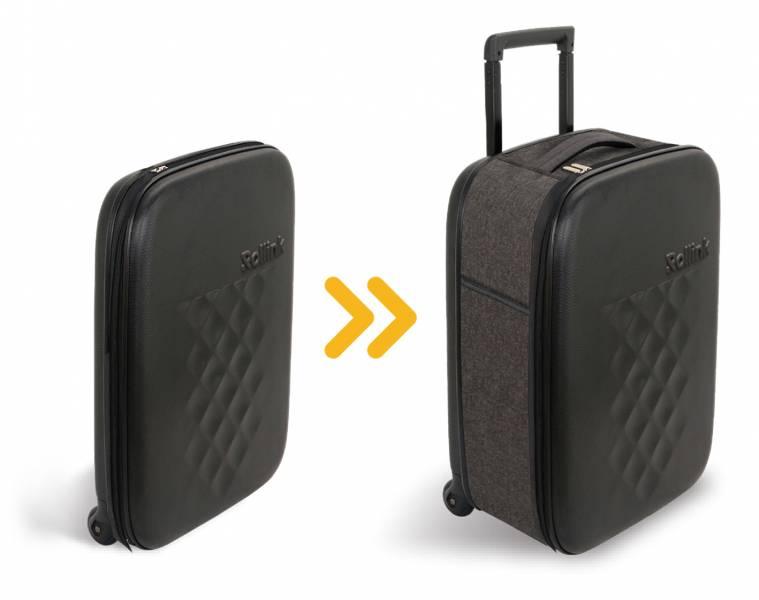 Rollink I 最輕薄摺疊登機箱 (黑) 整新品現貨6個 rollink 行李箱,登機箱